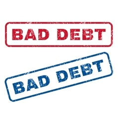 Bad debt rubber stamps vector