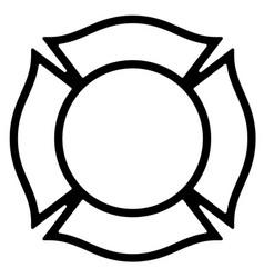 blank firefighter maltese cross outline vector image