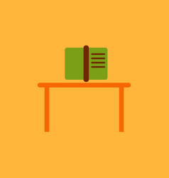 book and table vector image