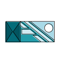 box packing isolated icon vector image