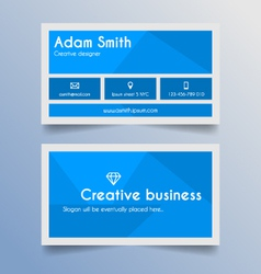 Business card template - blue and light grey desig vector