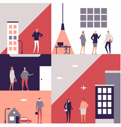 Business people - flat design style vector