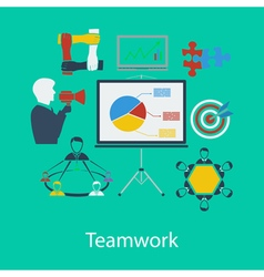 Business teamwork flat design vector image