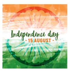 Card template design for indian independence day vector