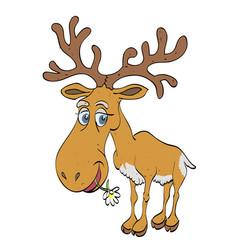 cartoon image of reindeer vector image