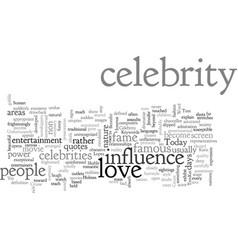 Celebrity love vector