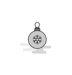 christmas balls web icon flat line filled gray vector image