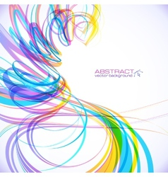 Colorful abstract technology spiral background vector