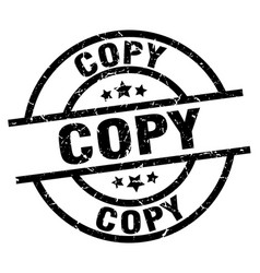 Copy round grunge black stamp vector