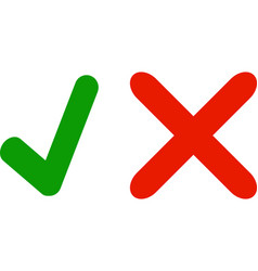 Correct no yes icon right symbol check mark vector