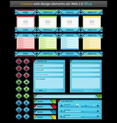 creative web design elements set vector image
