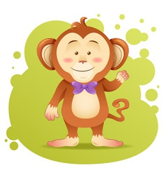 Cute cartoon monkey toy card vector image
