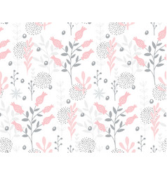 cute hand drawn abstract floral pattern vector image