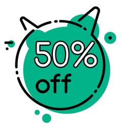 discount 50 percent off geometric bubble vector image