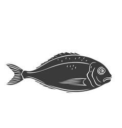 Dorado fish glyph icon vector