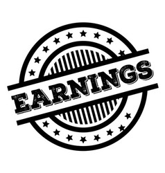 Earnings stamp typ vector