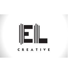 el logo letter with black lines design line letter vector image