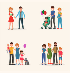 family history set vector image