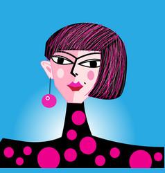 fashion portrait a girl vector image