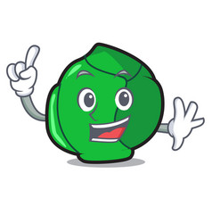 Finger brussels mascot cartoon style vector
