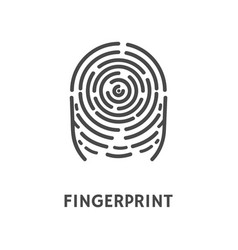 fingerprint print of finger identification vector image