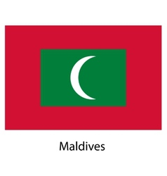 Flag of the country maldives vector image