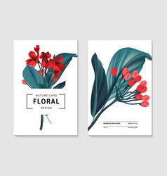 floral tender card botanical spring floral vector image