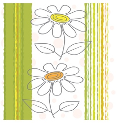 Flowers on a background vector image