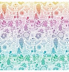 forest design floral pattern vector image