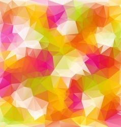 full color spring polygonal triangular pattern vector image