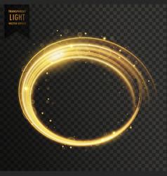 Golden white swirl light effect vector
