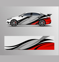 Graphic abstract racing designs for vehicle vector