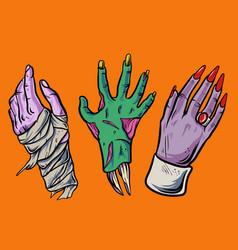halloween hand vector image