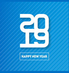 happy new year 2019 cover of business diary for vector image