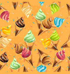 ice cream cone seamless pattern vector image
