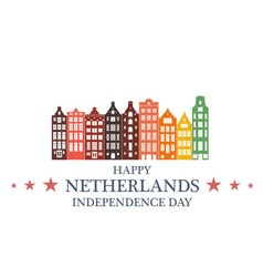 Independence day netherlands vector