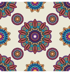 Indian mandala round pattern vector image