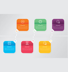 infographic horizontal timeline vector image