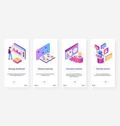 Isometric digital marketing management solution vector