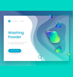 Landing page template with a blue fresh background vector