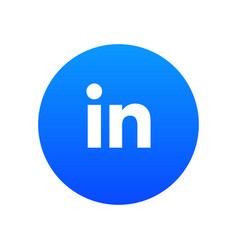 linkedin icon vector image