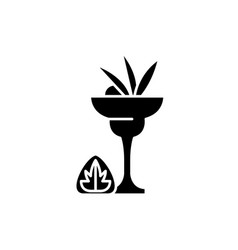 liquor black icon sign on isolated vector image