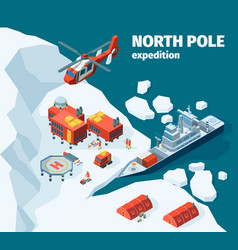 meteorological north station polar north pole vector image
