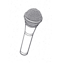 modern microphone for voice music sound vector image
