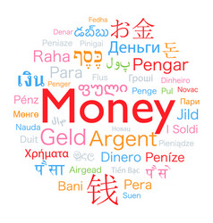 Money foreign language vector