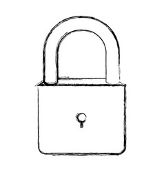 Monochrome blurred silhouette of padlock icon vector