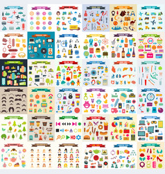 Multicolored icons with tape on topic 36 vector
