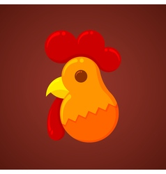 New Year Christmas Rooster symbol of the new year vector