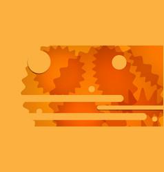 orange abstract backdrop decorative design vector image vector image