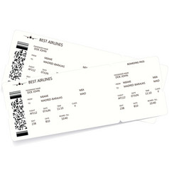 pattern of a boarding pass and air ticket vector image